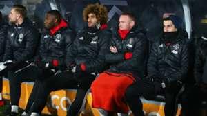 Manchester United bench Premier League