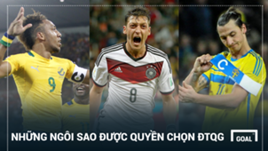 Players who had to choose between two countries