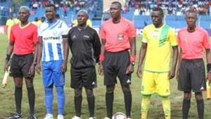 Duncan Otieno of AFC Leopards and James Situma of Homeboyz.