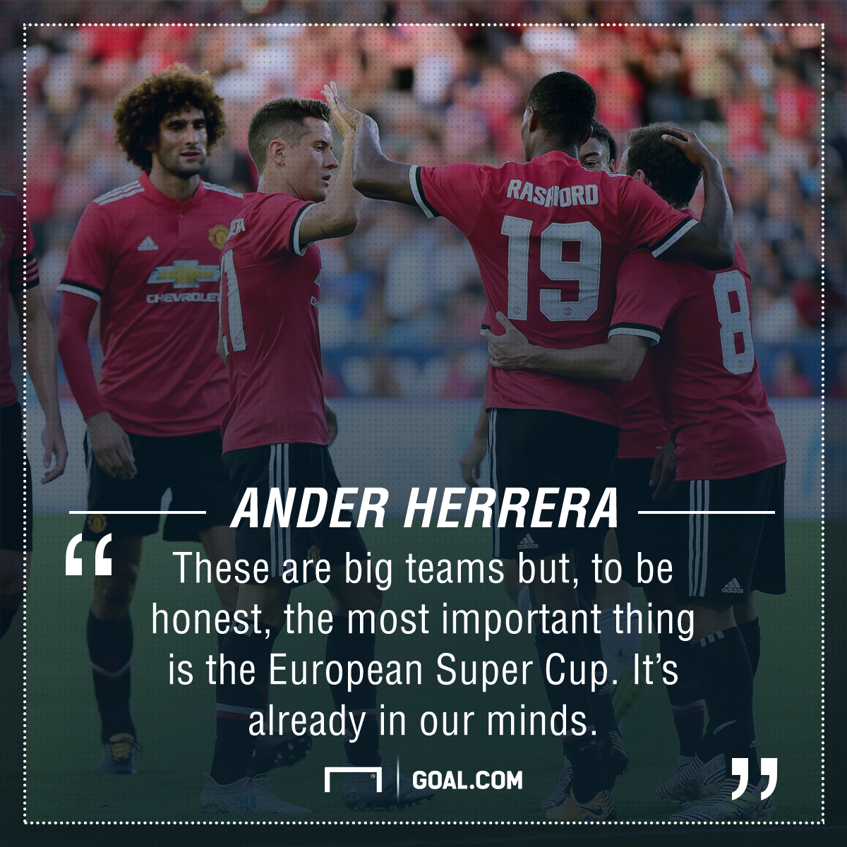 Ander Herrera Manchester United Super Cup