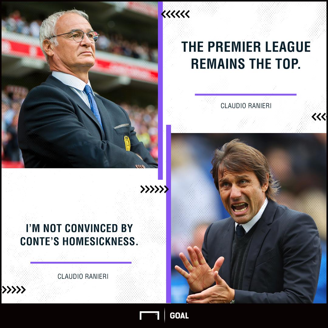 Claudio Ranieri Antonio Conte Chelsea exit not convinced