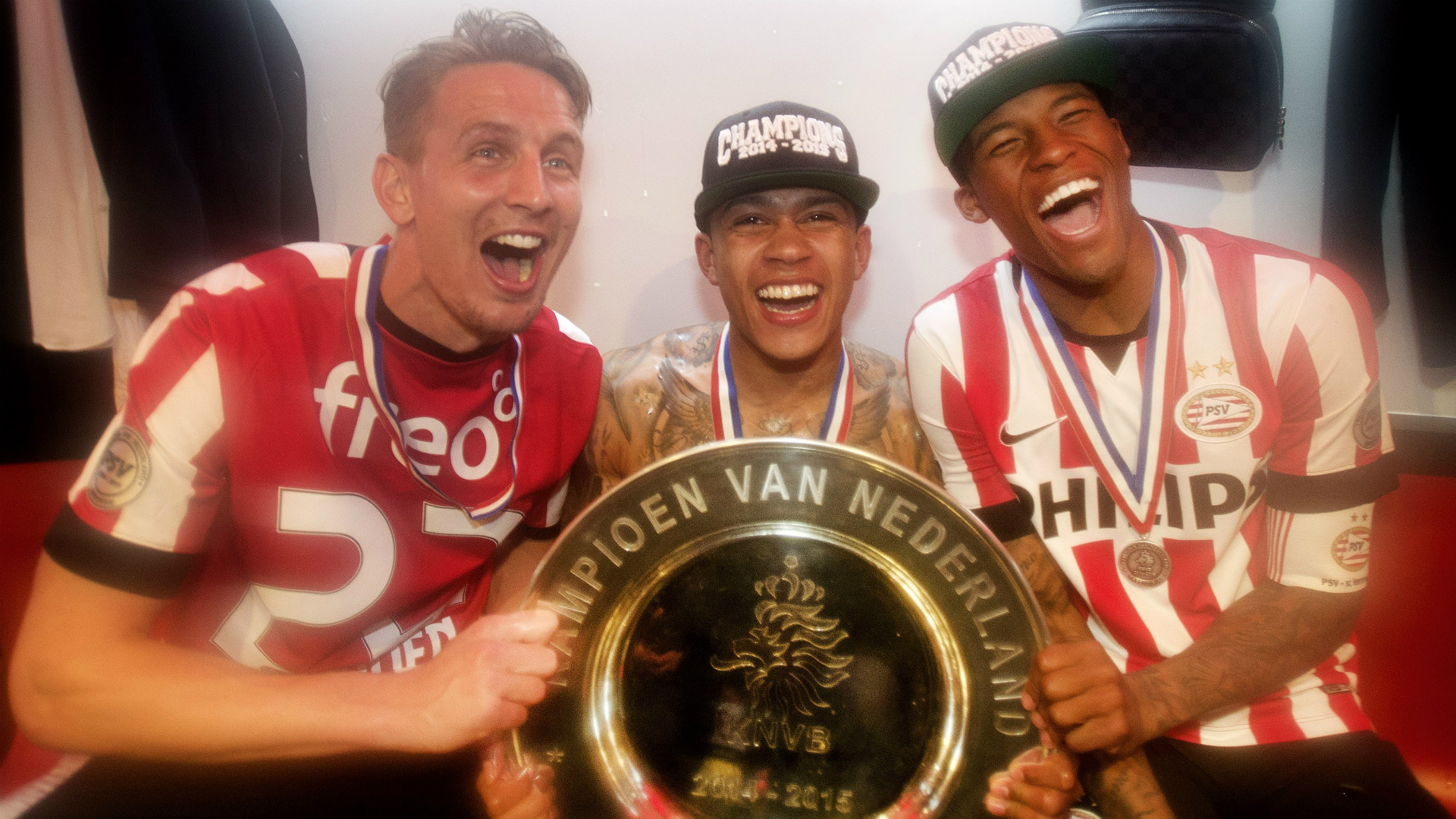 Luuk De Jong Memphis Depay Georginio Wijnaldum PSV Eredivisie