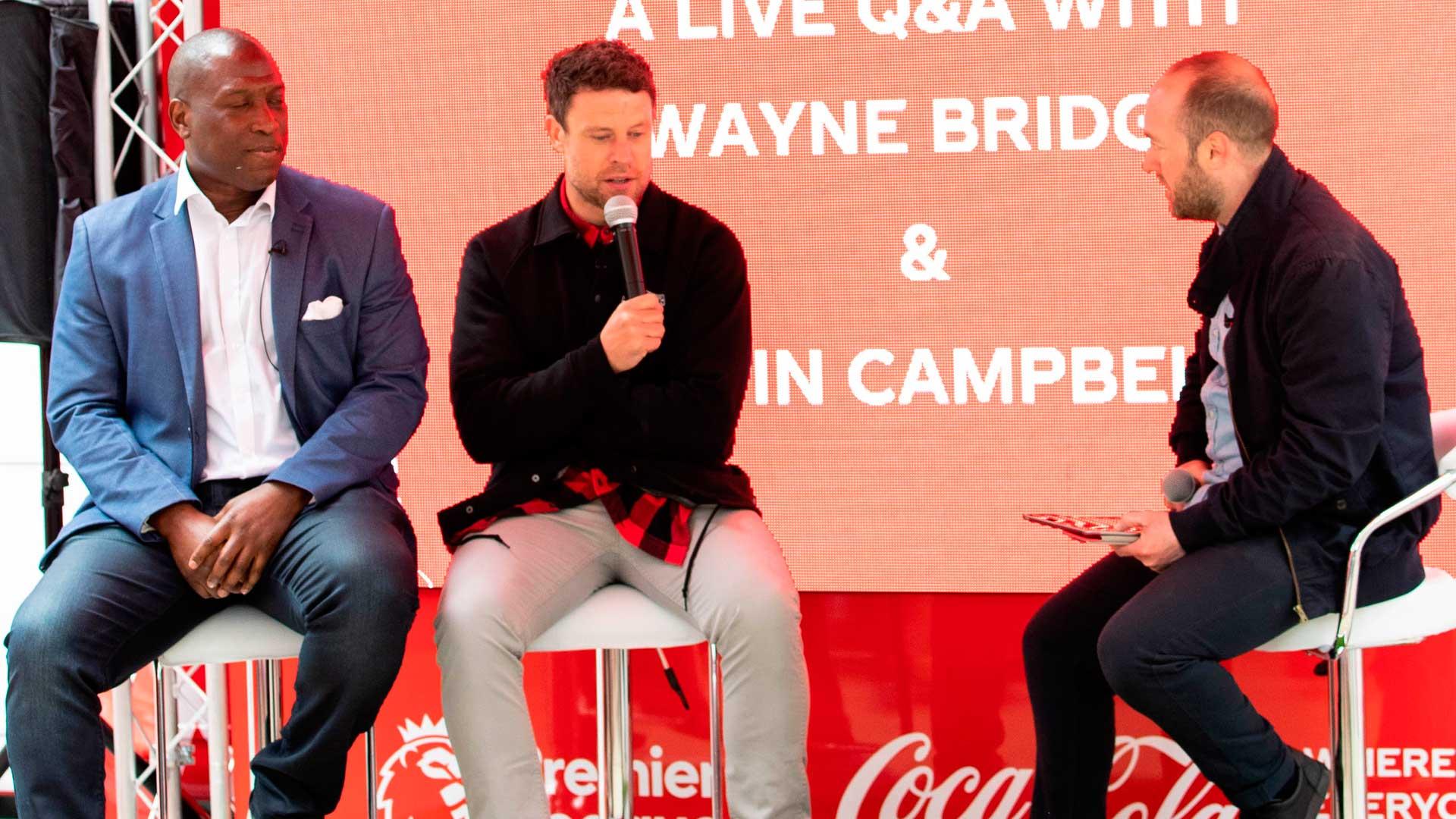 Wayne Bridge and Kevin Campbell