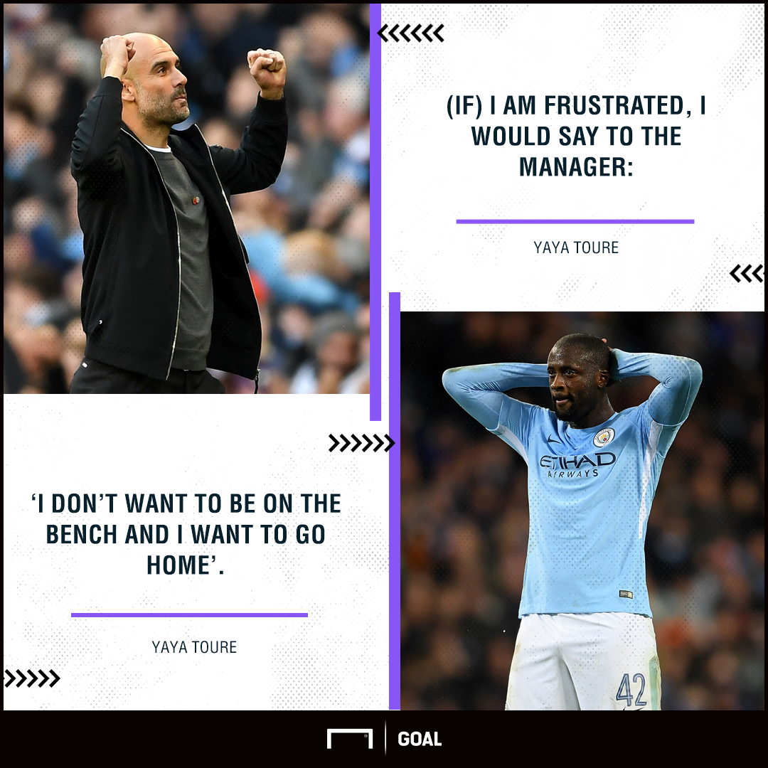 Yaya Toure Manchester City not frustrated