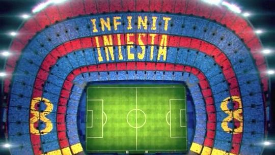 FC바르셀로나가 발표한 레알소시에다드전에서 펼쳐질 캄프누의 카드섹션 가상 이미지. 사진 출처=문도 데포르티보