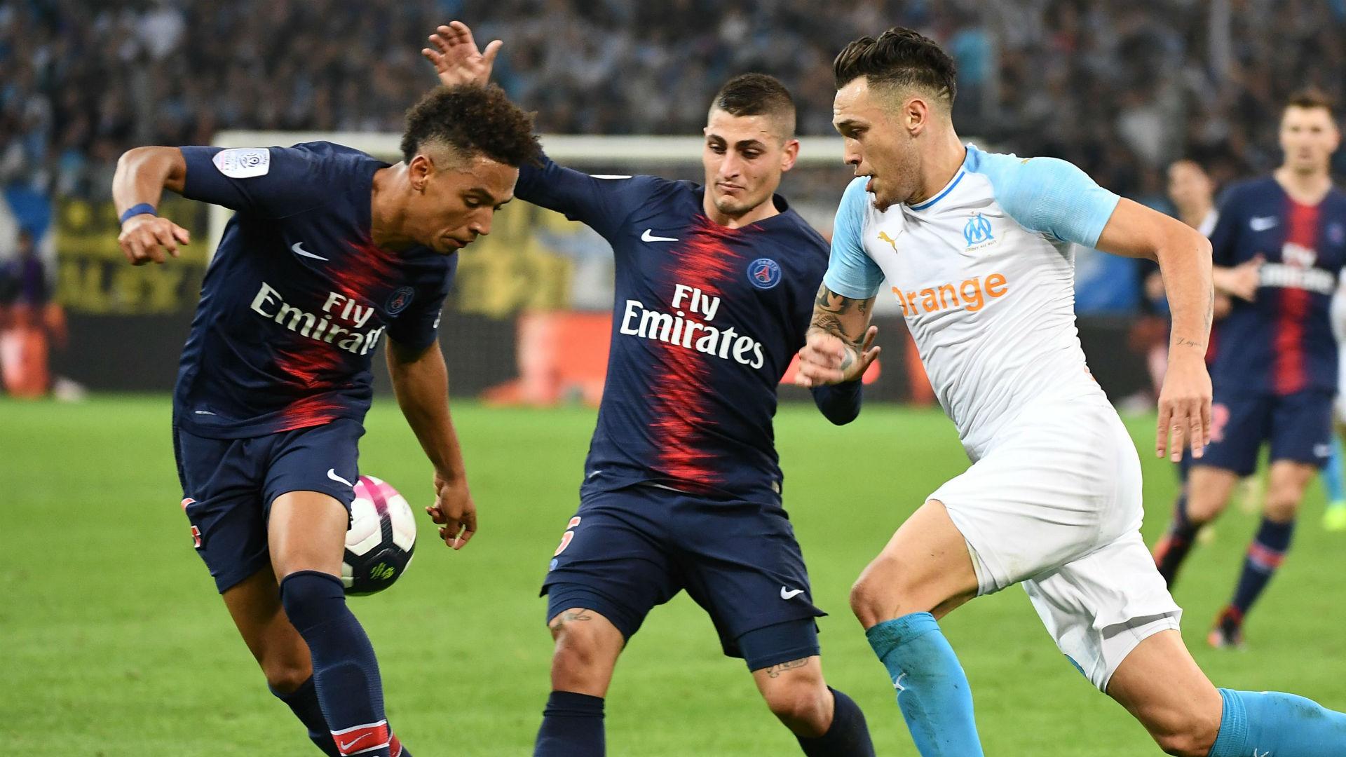 Lucas Ocampos Marco Verratti Marseille PSG Ligue 1 28102018