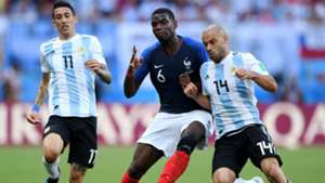 Javier Mascherano Paul Pogba France Argentina World Cup 30062018