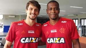 Rodrigo Caio e Juan Flamengo 03 01 19