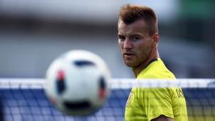Andriy Yarmolenko Ukraine training Euro 2016