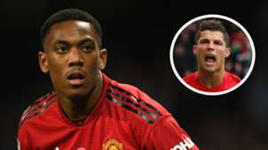 Anthony Martial Cristiano Ronaldo Man Utd