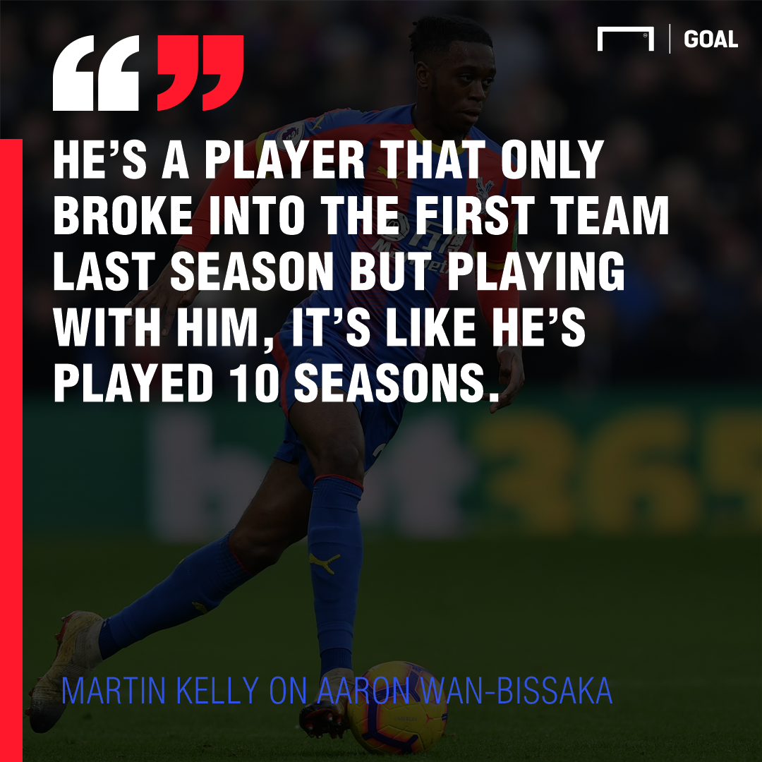 Martin Kelly on Aaron Wan Bissaka Crystal Palace 2017-18