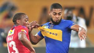 Thuso Phala and Ebrahim Seedat - SuperSport United v Cape Town City