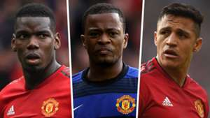 Paul Pogba Patrice Evra Alexis Sanchez Man Utd