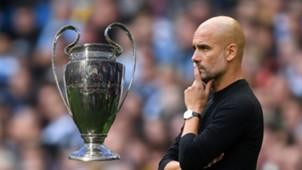 Pep Guardiola Champions League trophy