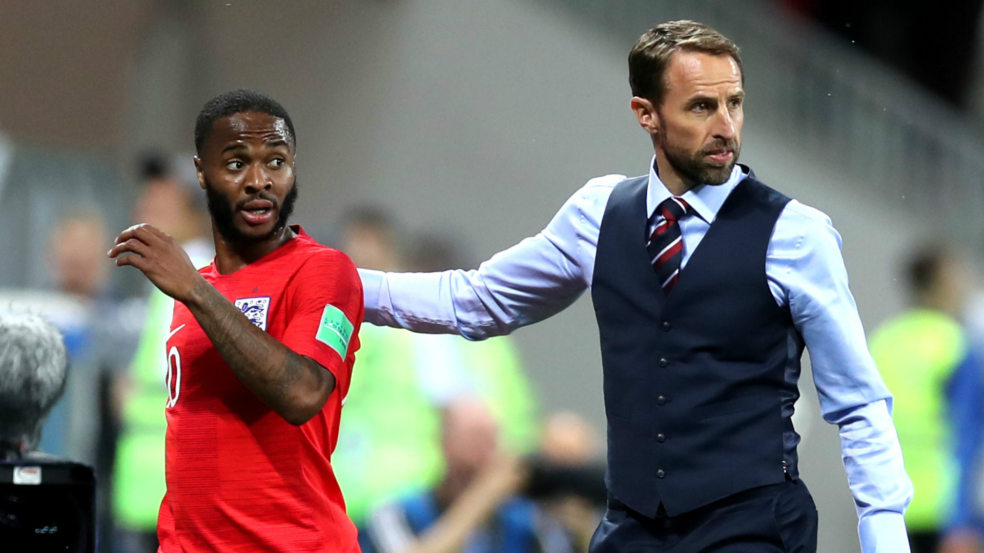 Raheem Sterling Gareth Southgate England 2018