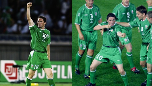 Robbie Keane Republic of Ireland Saudi Arabia 2002 World Cup