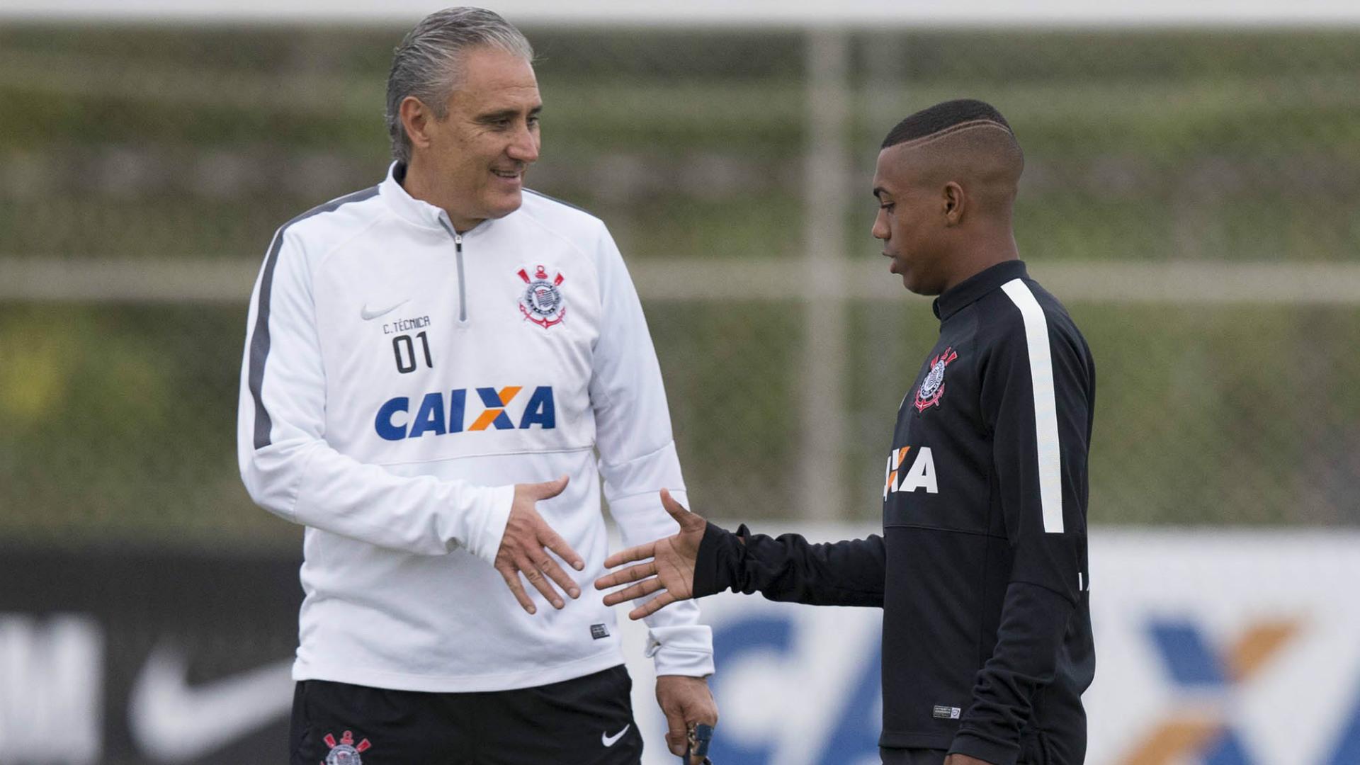 Tite e Malcom - Corinthians - 11/05/2015