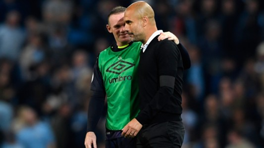 Pep Guardiola Wayne Rooney Manchester City
