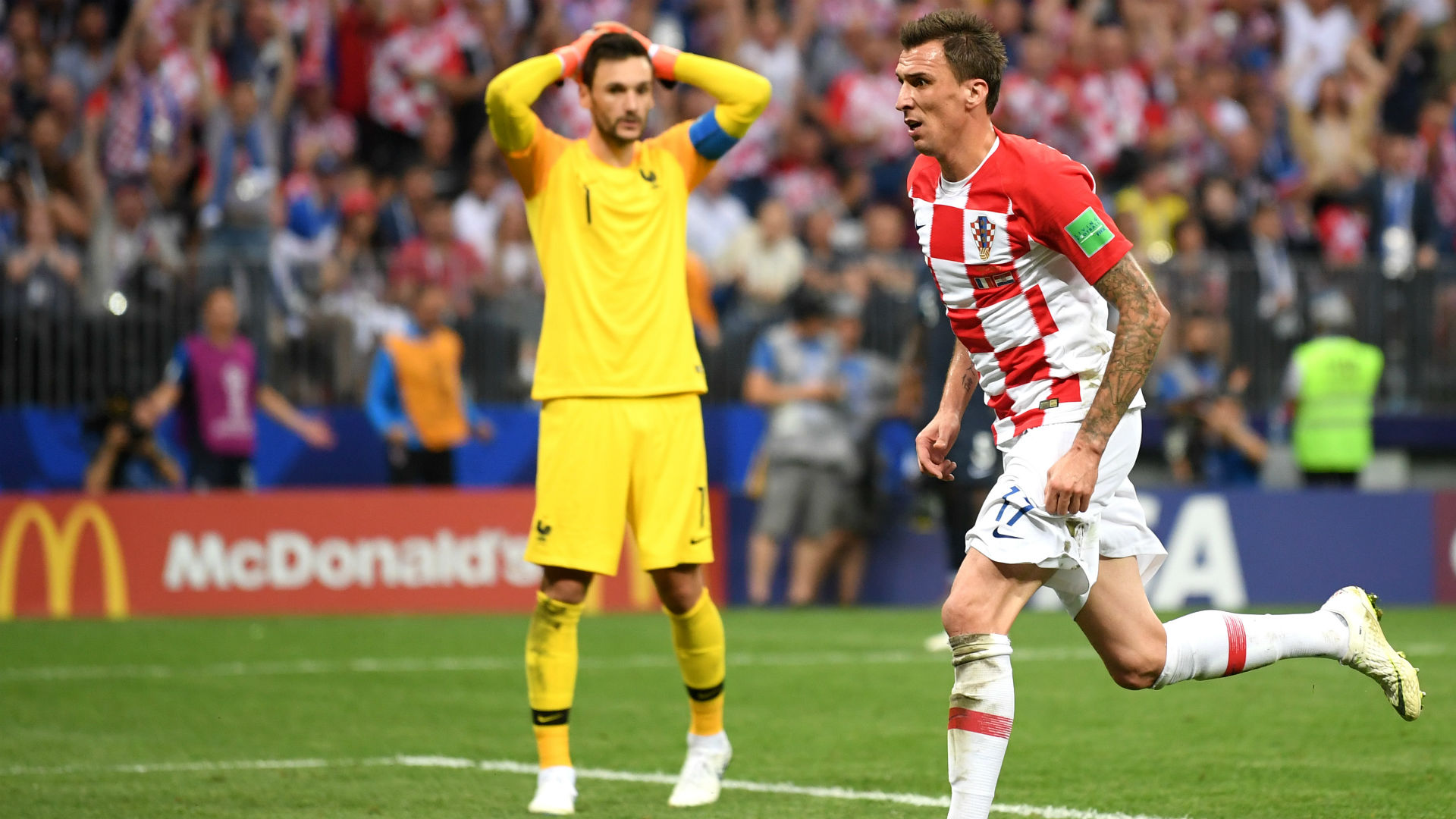 Hugo Mandzukic  Lloris France Croatia World Cup 2018 Final 15072018