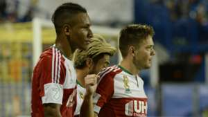 Juan Agudelo Kelyn Rowe Lee Nguyen New England Revolution MLS