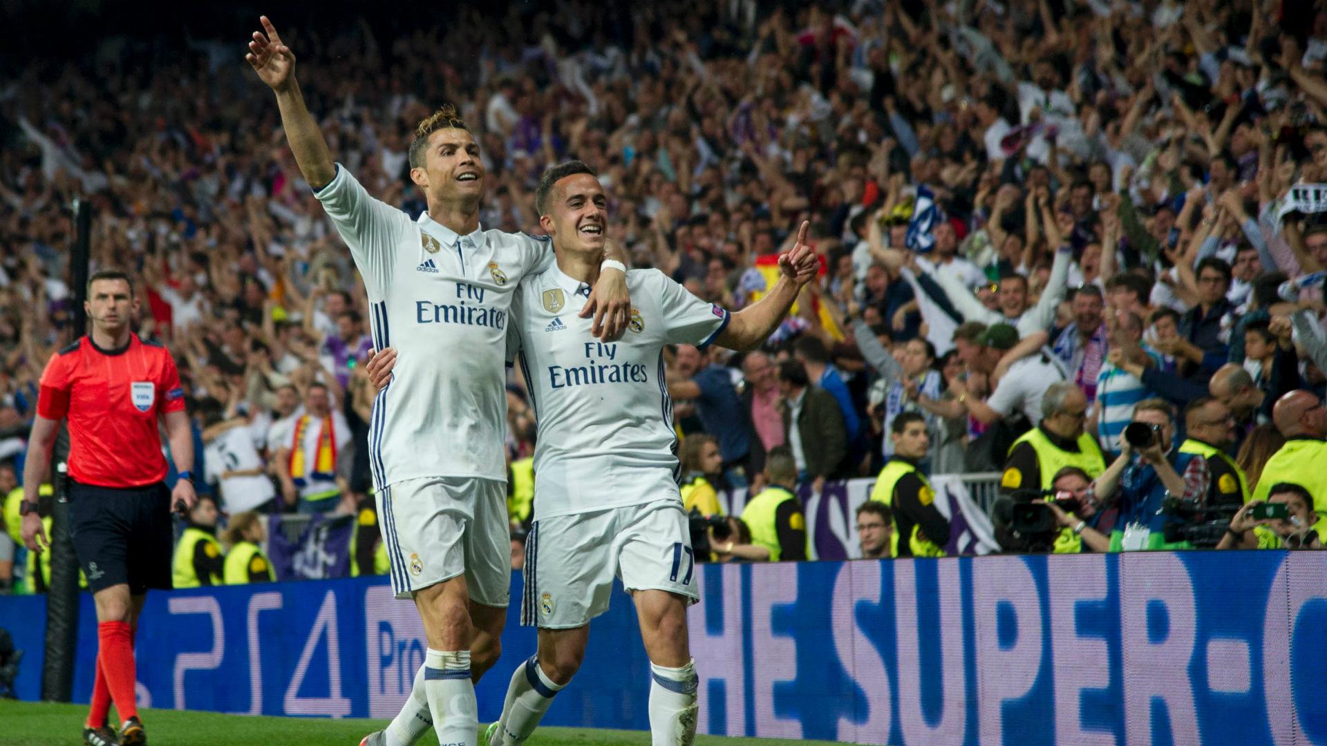 Cristiano Ronaldo Lucas Vazquez Real Madrid Atletico Champions League 02052017