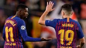 Ousmane Dembele Munir El Haddadi Barcelona Tottenham UCL 11122018