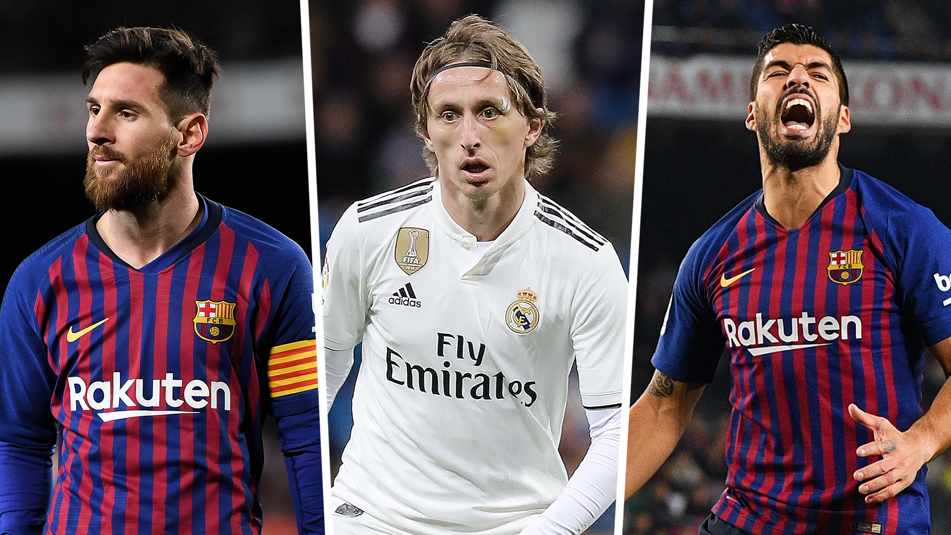 Messi Modric Suarez Combined XI
