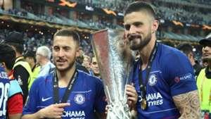 Olivier Giroud Eden Hazard Chelsea Europa League final 2019