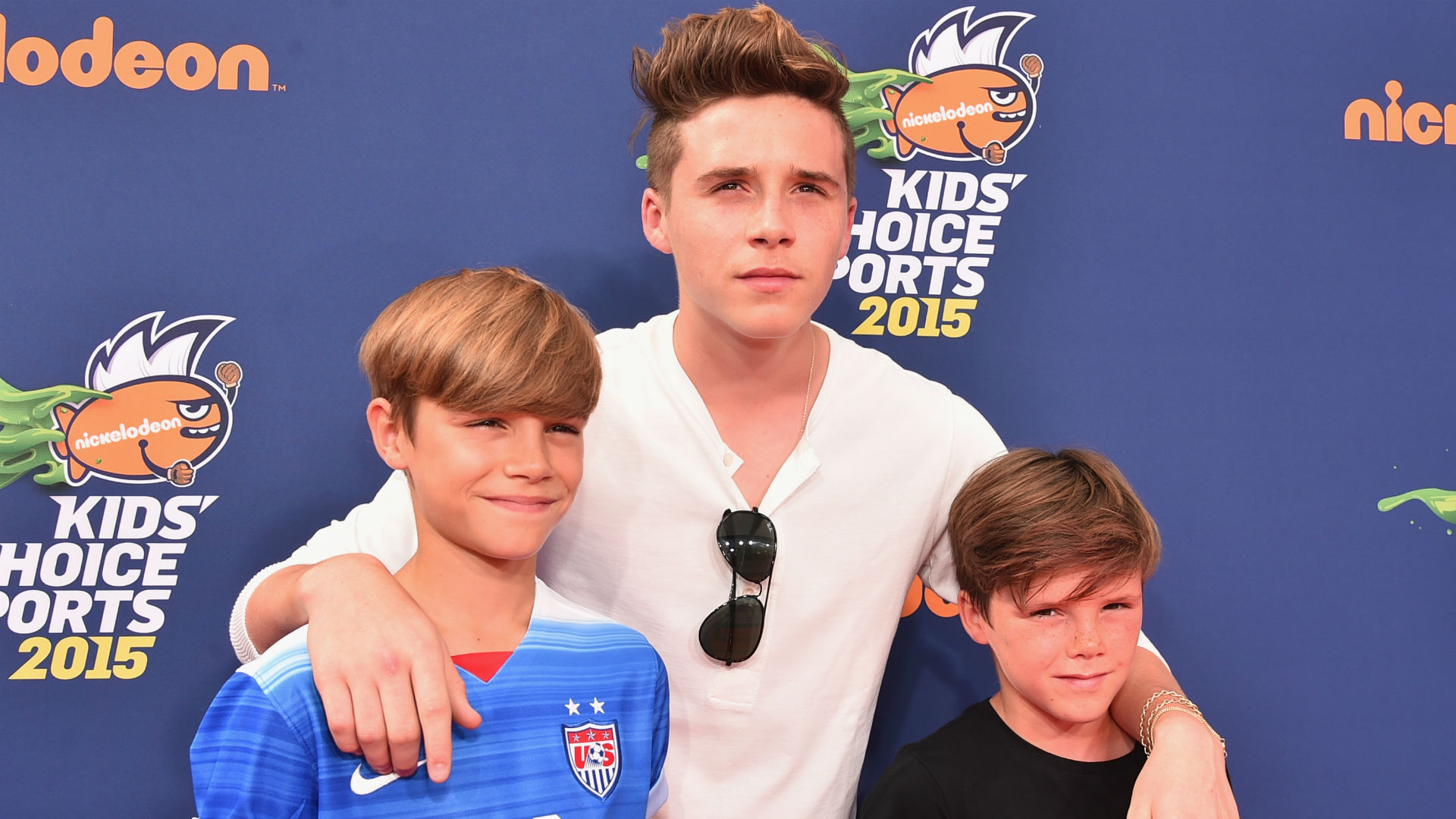 Brooklyn Romeo Cruz Beckham 15072015