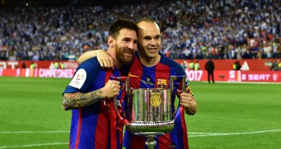 Lionel Messi Andres Iniesta Barcelona