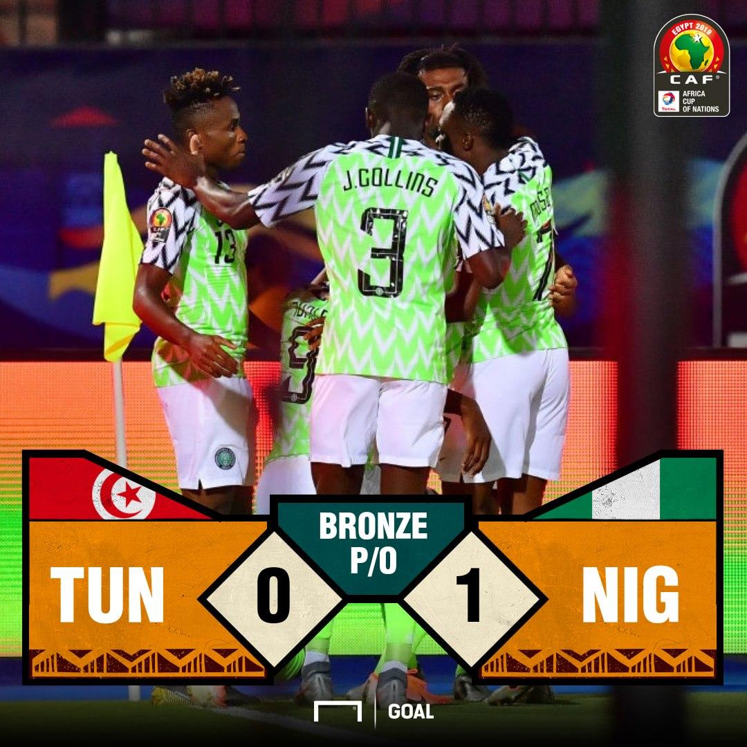 Nigeria Tunisia score PS
