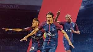 PSG Neymar Mbappe Cavani Paris Ligue 1