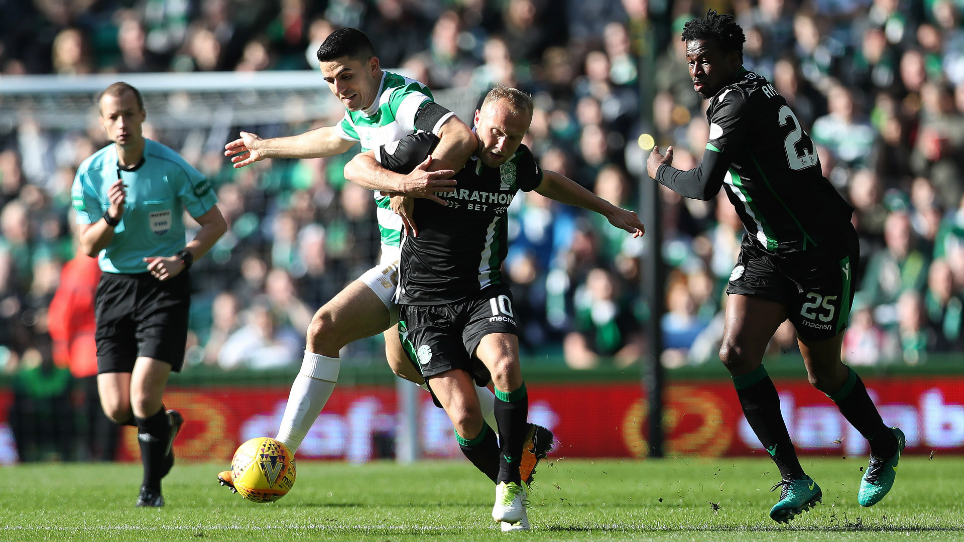Tom Rogic Dylan McGeouch Celtic Hibs