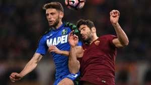 Domenico Berardi Federico Fazio Roma Sassuolo Serie A