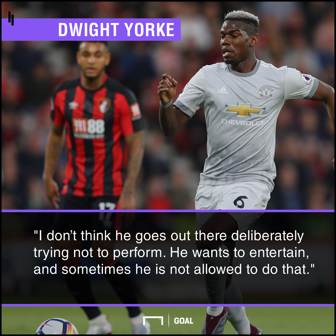 Paul Pogba entertainer Dwight Yorke