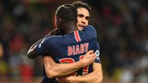Edinson Cavani Moussa Diaby PSG 2018