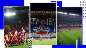 GFX Anfield Parc des Princes Camp Nou