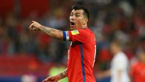 Gary Medel with Chile shirt