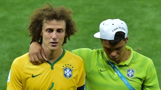 David Luiz Thiago Silva Brazil Germany 08072014