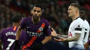 Riyad Mahrez, Kieran Trippier, Tottenham vs Man City