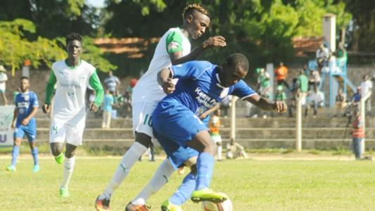 Bandari midfielder Enock Agwanda v Kenneth Muguna of Gor Mahia.