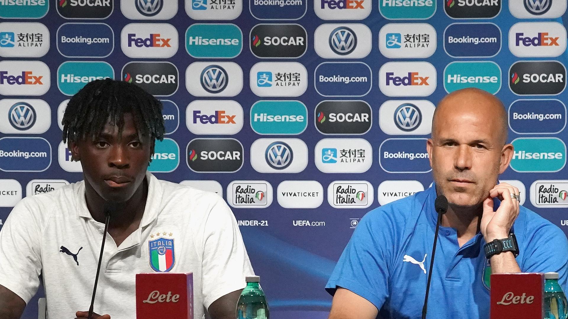Moise Kean Luigi Di Biagio Italy U21s