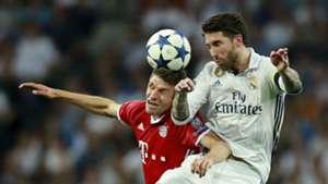 Thomas Muller Sergio Ramos Bayern Munich Real Madrid