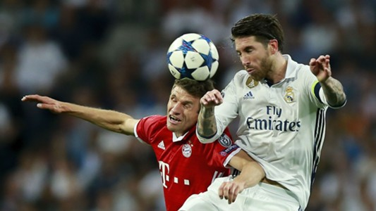 Thomas Muller Sergio Ramos Bayern Munich Real Madrid