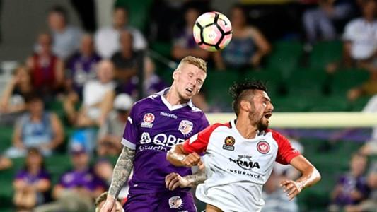 Andy Keogh Perth Glory v Western Sydney Wanderers A-League 25022017