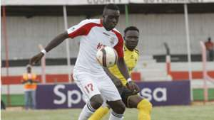 Baron Oketch of Ulinzi Stars against Collins Shivachi of Tusker