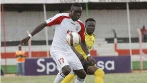 Baron Oketch of Ulinzi Stars against Collins Shivachi of Tusker
