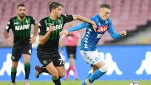 Manuel Locatelli Piotr Zielinski Napoli Sassuolo Serie A