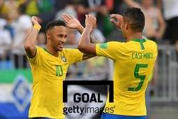 브라질 축구선수 네이마르(좌)와 카세미루(우). 사진=게티이미지ㅍ