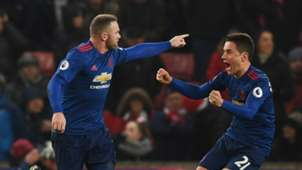 Wayne Rooney Manchester United Stoke City Premier League